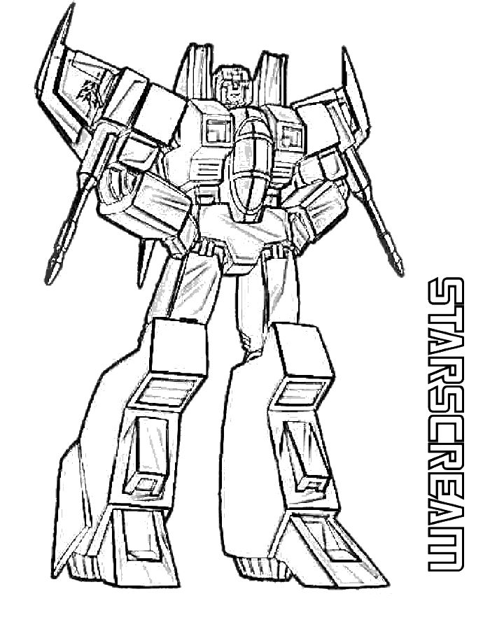 Starscream Transformers Coloring Page