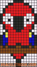 pixel art perroquet