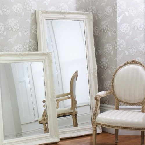 Full Length Ornate Cream Isabella Mirror 173 x 86cm | Exclusive Mirrors