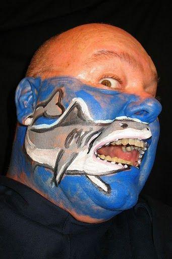 face painting  shark