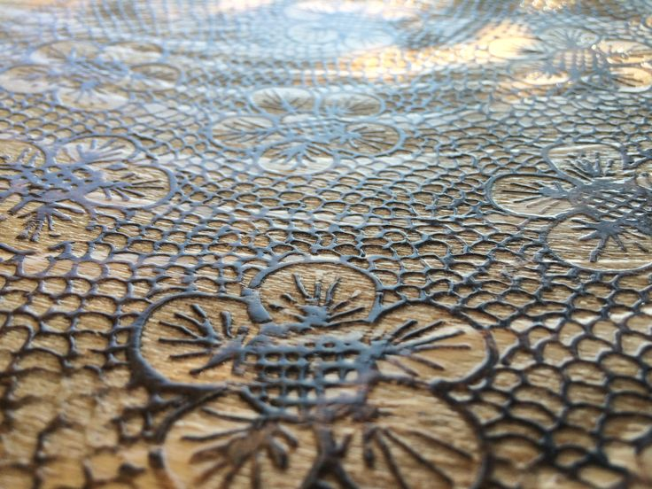 Lace effect engraved on Wood !!