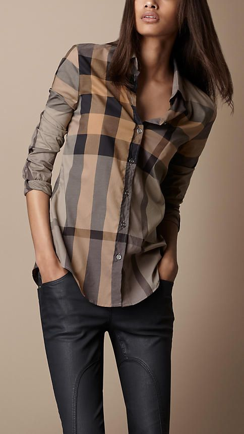 Check Cotton Shirt | Burberry this the coolest tartan I have seen ..... classic chic wear casual or gam