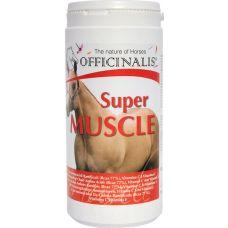 """Super Muscle wordt geadiviseerd voor paarden die een eiwitrijk dieet nodig hebben, in het bijzonder om magere spiermassa te vergroten en het herstel te versnellen na intensieve training. Bevat een hoge hoeveelheid van 3 anabolische aminozuren zogenaamd """"vertakt"""" (L-leucine, L-isoleucine en L-valine) en is verijkt met een snelle opneembare energie bron samengesteld uit dextrose en vitamines (vitamine C en B2) om de efficiëntie van de eiwitsynthese te verhogen."""