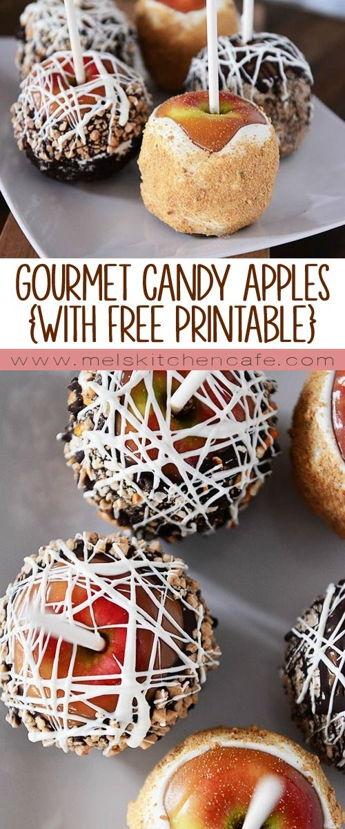 These Gourmet Candy Apples are perfect for the first day of school or Halloween!