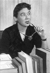 Margaret Laurence, Canadian author.