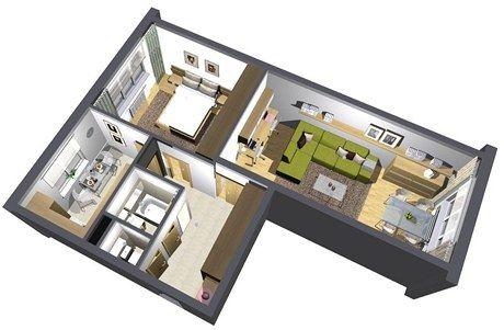 Pohled do panelákového bytu 2 1 po proměně