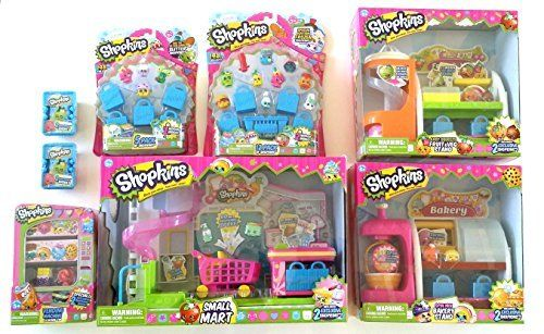 SHOPKINS ULTIMATE BUNDLE- 8 ITEMS: Shopkins Supermarket Playset, Shopkins Bakery Playset, Shopkins Fruit & Vegetable Playset, Shopkins Vending Machine, Shopkins 5 Pack, Shopkins 12 Pack and (2) 2 Shopkins Shopping Basket SHOPKINS ULTIMATE BUNDLE- 8 ITEMS: Shopkins Supermarket Playset Shopkins Bakery Playset Shopkins Fruit & Vegetable Playset Shopkins Vending Machine Shopkins 5 Pack Shopkins 12 Pack (2) 2 Shopkins Shopping Basket SHOPKINS ULTIMATE BUNDLE- 8 ITEMS: Shopkins Supermarke..