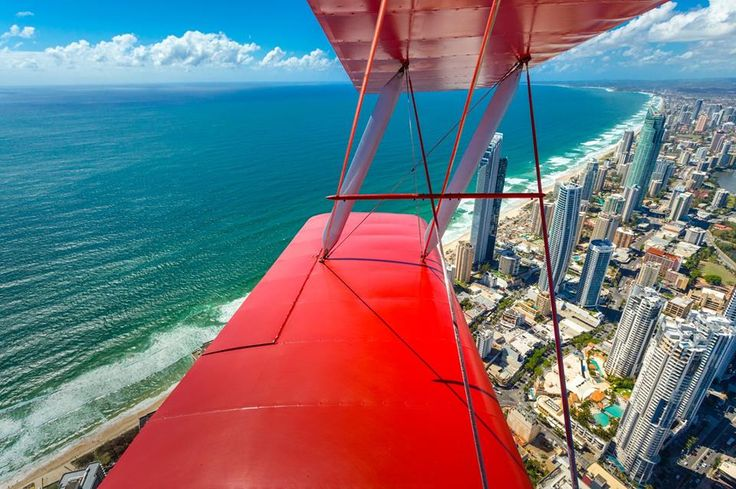 Flying over the Gold Coast - Australia