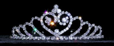 Rhinestone  Heart  tiara - $15.95  each For  more  info  please  contact - Shoot  for  the  Moon  Jewelry  Designs  (850) 230-9983 #tiaras #hairaccessories  #bridal