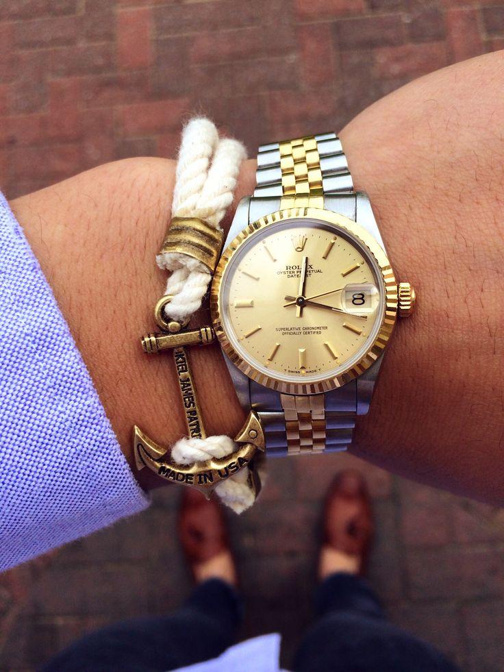 Gold Rolex Datejust On Wrist