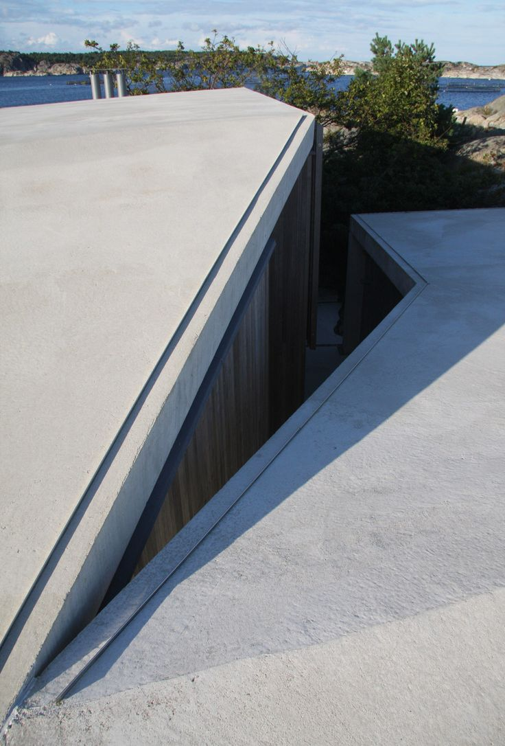 ROOF Concrete canopy shelters Lund Hagem's holiday home