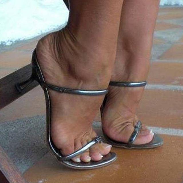 Black Pantyhose High Heels