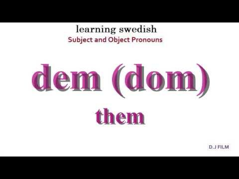 """▶ Learning Swedish (Lesson 3) """"Subject and Object Pronouns"""" - YouTube"""