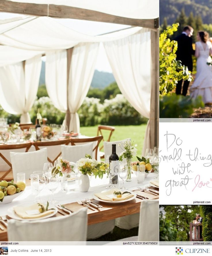 16 best tent alternatives images on pinterest backyard weddings gorgeous tent idea for out door weddings using milk glasses and wine bottles for table numbers junglespirit Images