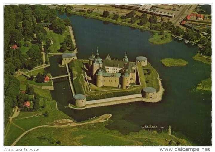 Suède - Kalmar slott fran luften Schloß