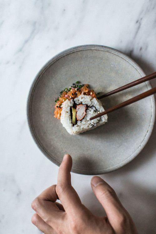 poke, spicy, and tuna image