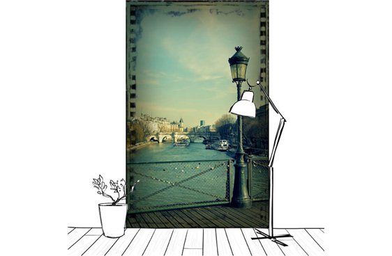 Poster de la ville de Paris au dessus de la seine #paris #déco