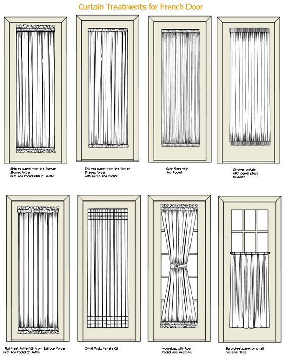 Curtain treatments for french doors: