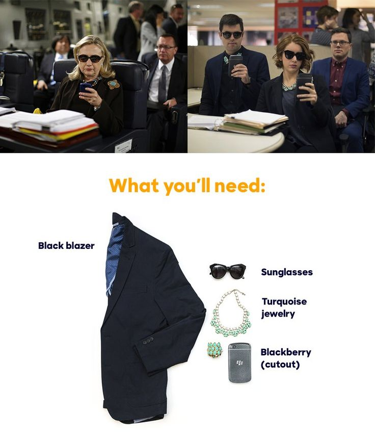 """Creative way to be Hillary ~Annie~ """"Texts From Hillary"""" Costume"""