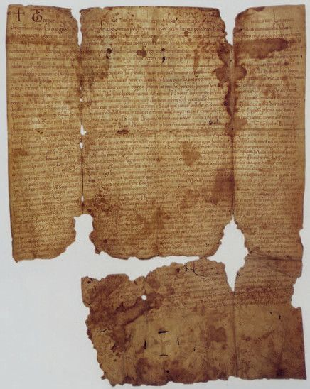 Fig. 7: The Zobor Deed from 1113, issued by King Coloman (1070–1116), confirming old land tenures of the Benedictine order on the territory of western and eastern Slovakia. Credit: The Monuments Board of the Slovak Republic