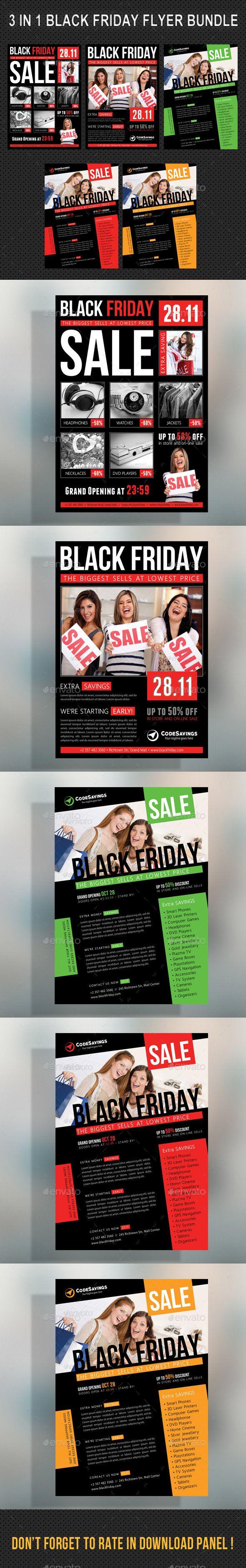 3 in 1 Black Friday Flyer Bundle