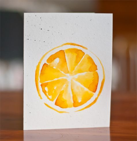 dear paperlicious: Watercolored Fruits -- Beginning (and more on the Fed Up Challenge)