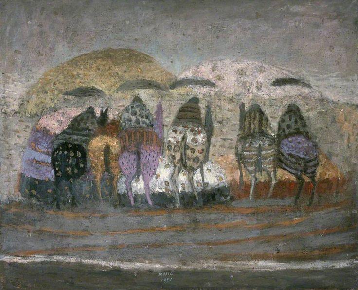 zoran music(1909–2005), horses and landscape, 1951. oil on canvas, 81 x 100 cm. estorick collection, london, uk http://www.bbc.co.uk/arts/yourpaintings/paintings/horses-and-landscape-132971