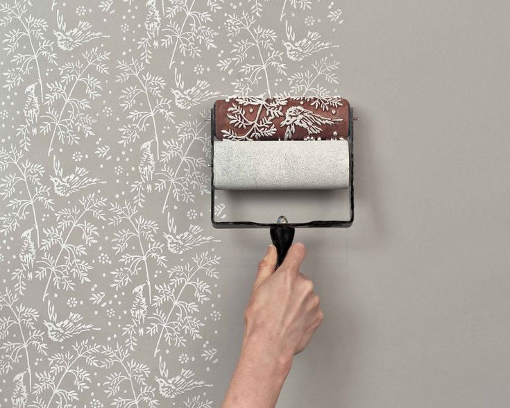 patterned paint rollers! good for walls and fabric; I'm thinking accent wall with matching throw pillows, y/y?