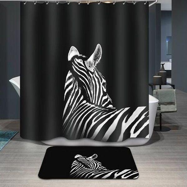 """Bad Gedruckt Polyestergewebe Zebra Stil Duschvorhänge Liner Wasserdicht Maschinenwaschbar Bad Vorhänge 72 * 72 """"(Größe: Lippenstift schönheit, Col   – Products"""