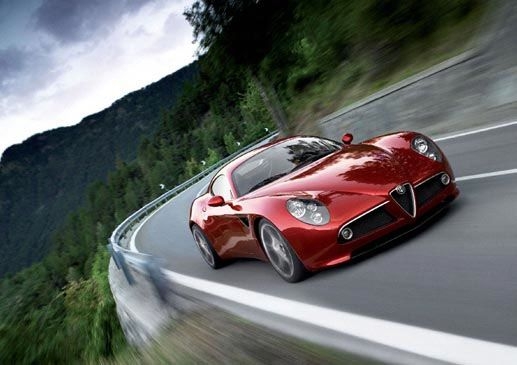 Alfa Romeo 8C Out of nowhere Alfa launches this V8 rebirth of the 8C. One of the most beautiful cars of all time
