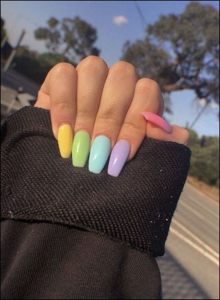 93+ most eye,catching different color coffin nails for prom