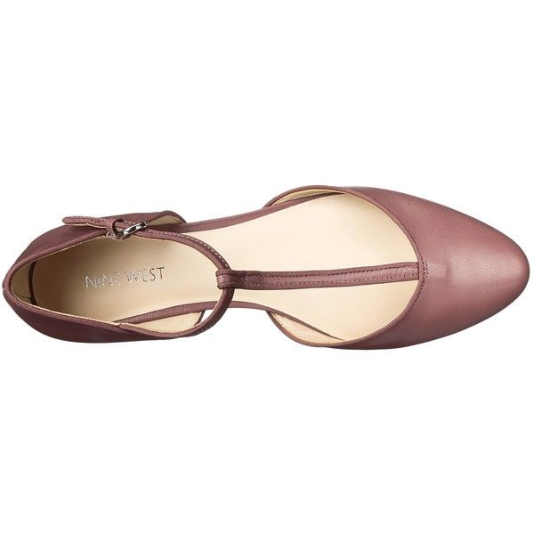Nine West Zenda Women's Flat Shoes, Pink ($56) ❤ liked on Polyvore featuring shoes, flats, synthetic shoes, t bar shoes, t strap flat shoes, flat shoes and pink flats
