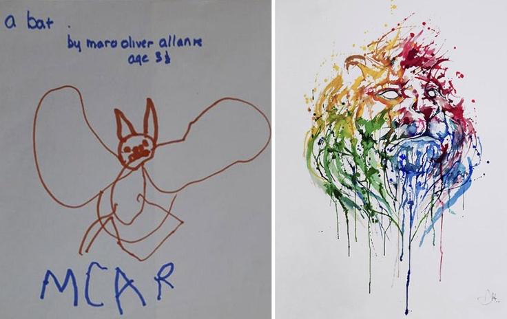 Evolução: Artista mostra 1 desenho seu por ano, desde que tinha 2 anos de idade