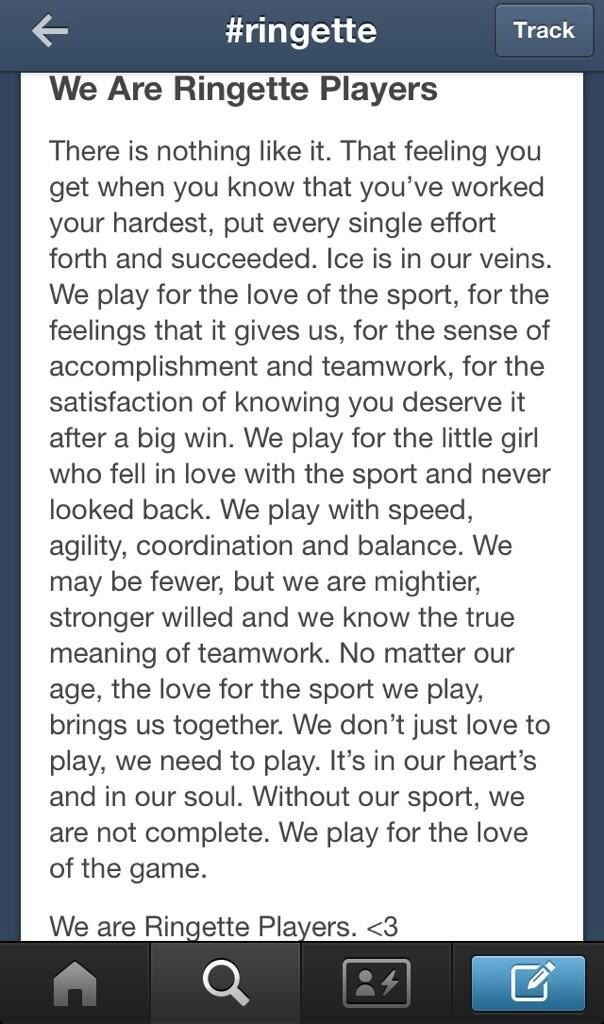 Perfect words to describe my life.. Ringette.