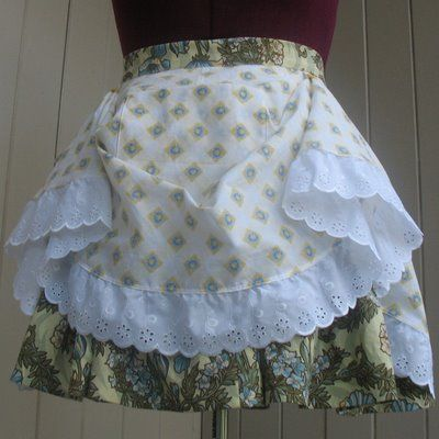 Aux Belles Choses: The Milkmaid Apron or Skirt. Either way, ADORABLE!