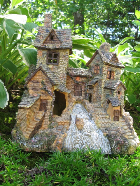 Fairy house with stream from Market Hill