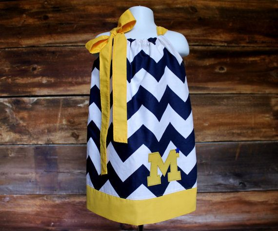 Michigan Inspired Navy and Yellow Chevron by DoodlebugsDrumsticks, $19.99
