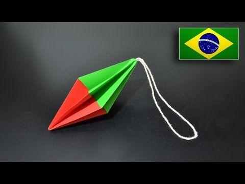 Origami: Árvore de Natal - Instruções em português PT BR - YouTube