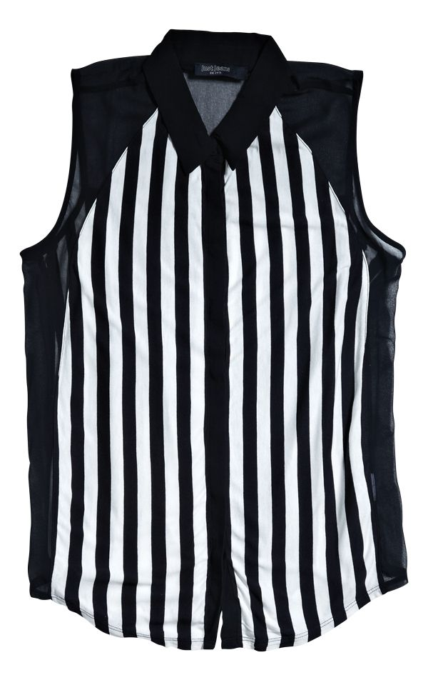 Sleeveless Shirt from Just Jeans. #monochrome