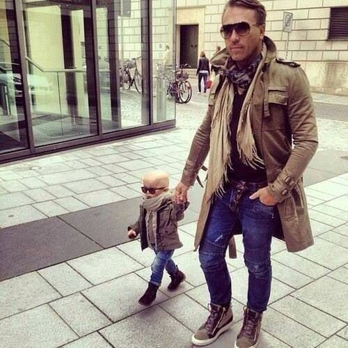 Father and son outfit