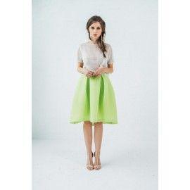 Tulle lime skirt #romantic #boho #bright