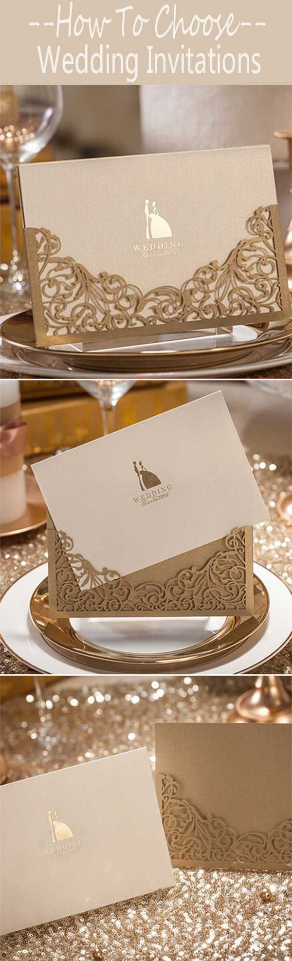 REAL WEDDING ACCESSORIES: HOW TO CHOOSE YOUR PERFECT WEDDING INVITATIONS? - Wedding Invites Paper  cheap wedding invitations/gold laser cut wedding invitations/ rustic fall wedding invitations/ lace winter wedding invitations/