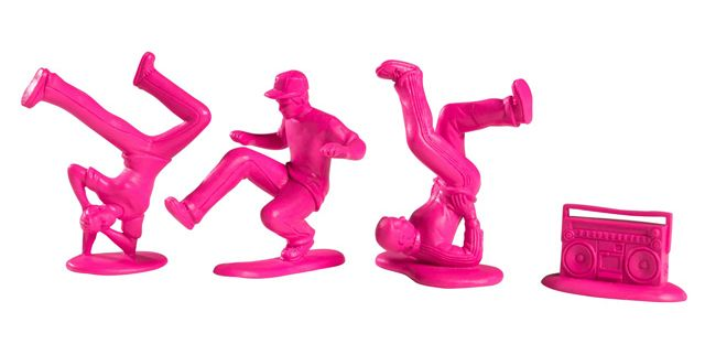 All City Breakers army men Kidrobot: Packs Pink, Plastic Breakdanc, Minis Series, 20 Packs, Funny Stuff, Green Army, Breakers Minis, Cities Breakers, Army Men