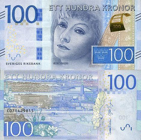 Sweden 100 Kronor 2015