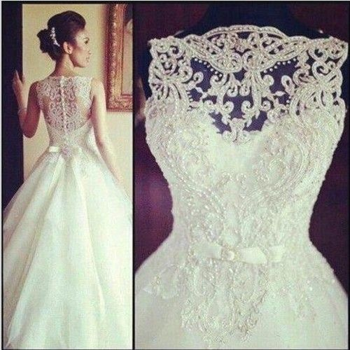 suknia ślubna - góra z koronki