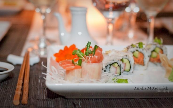 Salmon, Crab & Veggie Sushi