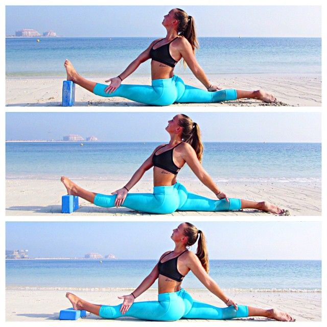 """""""If you already have your splits, using yoga blocks is a great way to open up your body for deeper splits to help with more advanced asanas and even what…"""""""