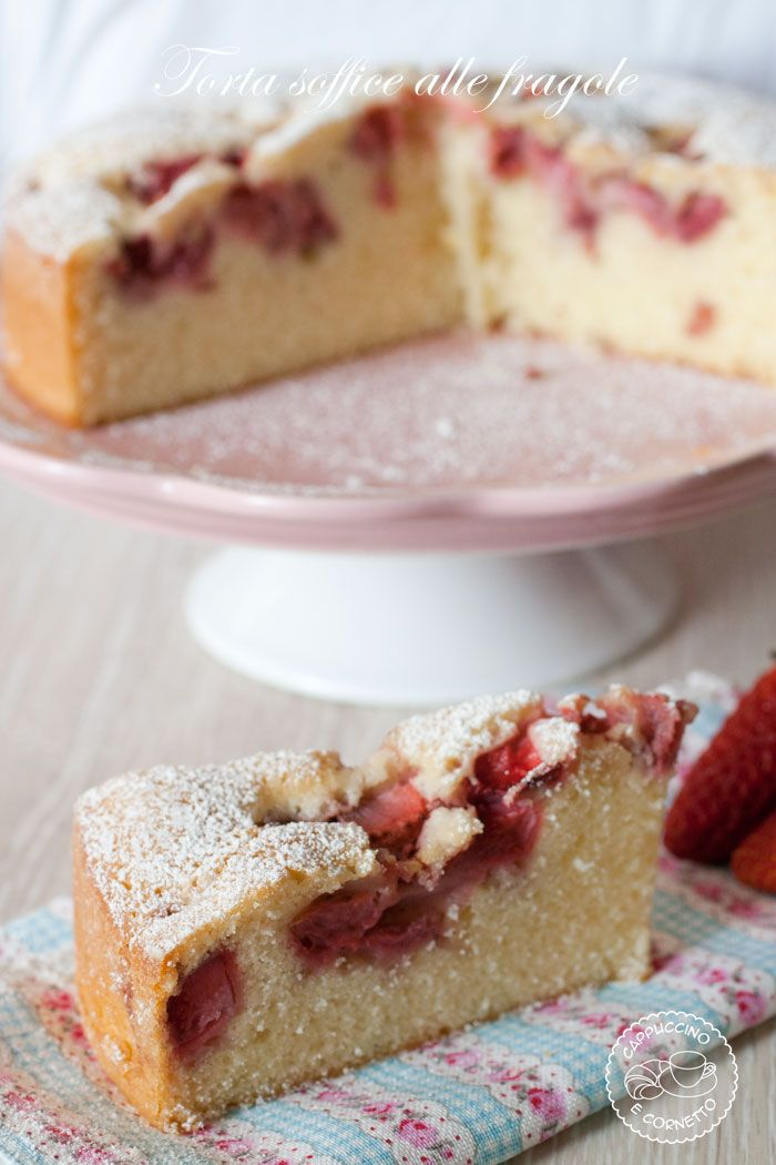 Soft cake with strawberries