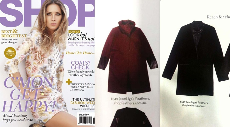 Two of our winter coats featured in Shop Til You Drop