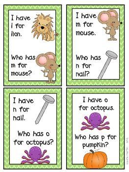 alphabet game - listening skills